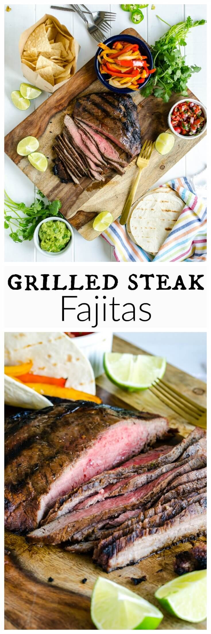 Easy Mexican Main Dishes Part - 42: GRILLED STEAK FAJITAS RECIPE Tender Juicy Steak Loaded With Flavor, Topped  With Crisp Peppers And
