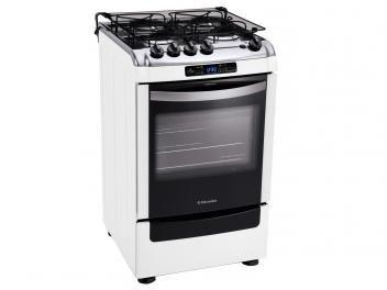 Fogão 4 Bocas Electrolux Chef Timer - Acendimento Automático Branco