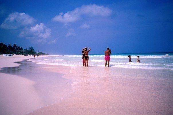 Доброе утро и хорошего настроения Друзья! ) Путешествуйте с нами! Розовый песчаный #пляж, Багамские #остров'а