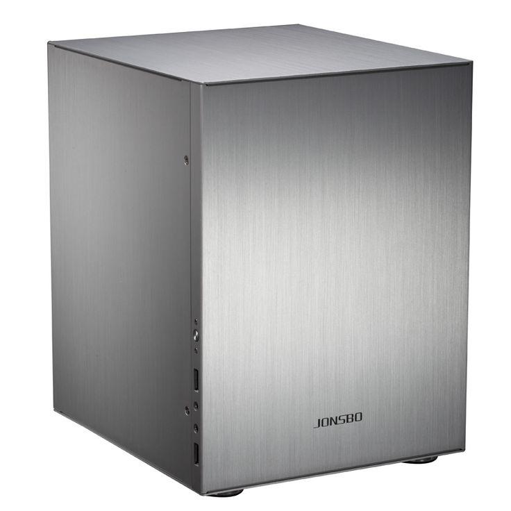 JONSBO aluminium ITX chassis C2 ondersteuning ITX moederbord voeding deel van de matx ondersteuning