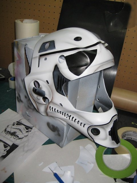 Storm Trooper Goalie Mask Airbrush Work Pinterest Goalie Mask