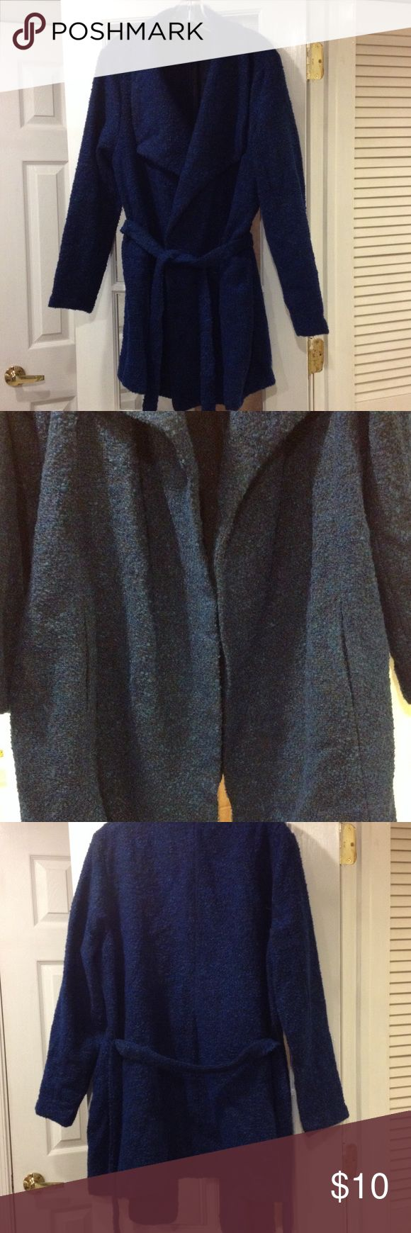 Size 1X Femme Wrap Coat NWT Size 1X Femme Wrap Coat with 2 pockets new with tags Jackets & Coats