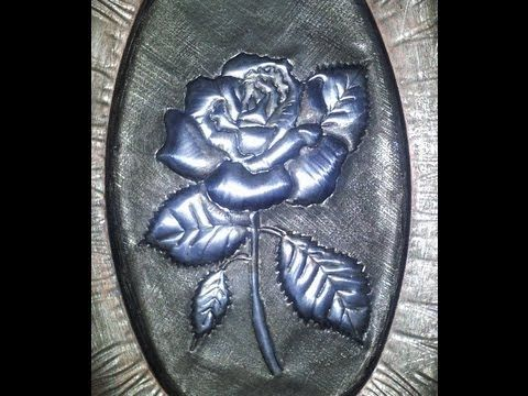 ▶ DIY ROSA PLATEADA, HOW TO DO A SILVER ROSE - YouTube