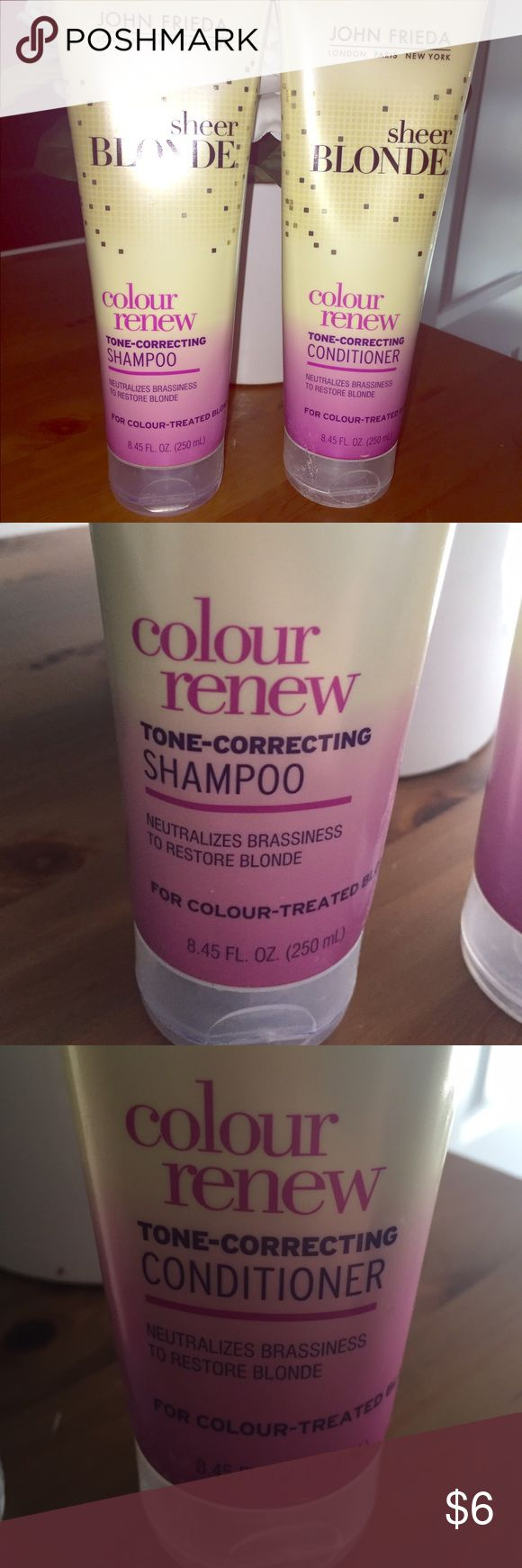 i use the shampoo for light blondes and the color safe conditioner must find purple toning shampoo to go with my shimmer lights