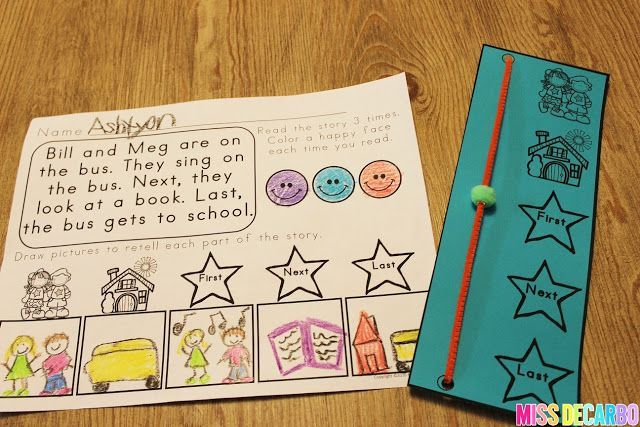 Retelling manipulative device. Miss DeCarbo: 3 Ideas To Increase Retelling Skills In Young Readers