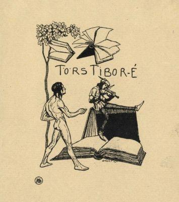 Bookplate by Tibor Bottik for  Törs Tibor, 1906