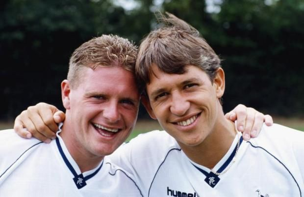 Gary Lineker and gazza spurs legends