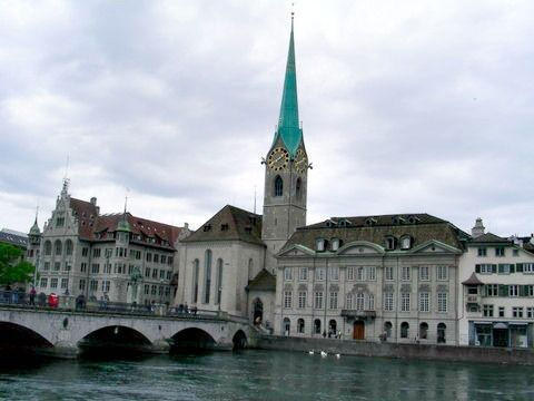 Fraumunster Church in Zurich, Switzerland