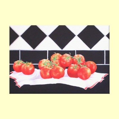 Summer's Tomatoes  wrapped canvas print