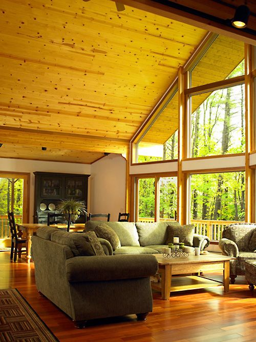 25 best ideas about lindal cedar homes on pinterest for Log home sunrooms