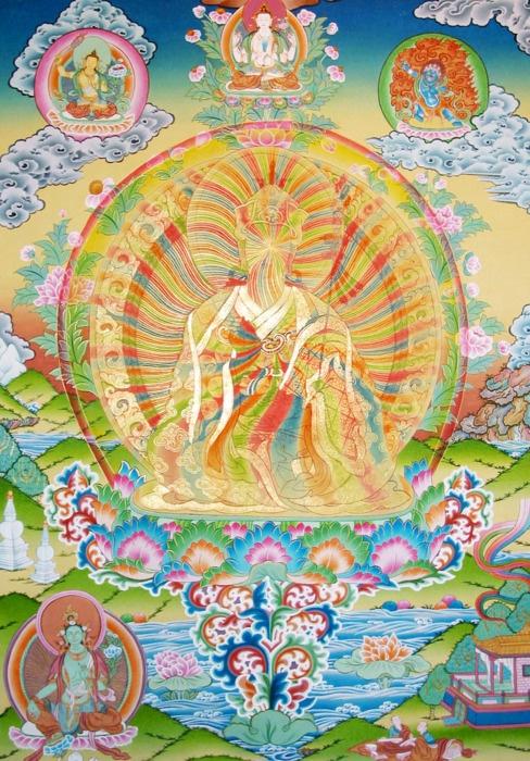 Faceless Bodhisattva. Bodhicitta within. Buddhanature in mind. [Guru Rinpoche (tib) or Padmasambhava (skr)]
