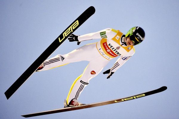 Peter Prevc Photos Photos - (FRANCE OUT) Peter Prevc of Slovenia competes during the FIS Nordic World Cup Men's Ski Jumping HS130 on February 21, 2016 in Lahti, Finland. - FIS Nordic World Cup - Men's Ski Jumping HS130