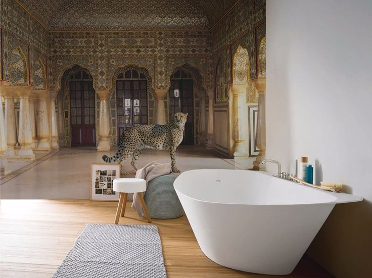 Panoramic wallpaper THE RETURN OF THE HUNTER Artists Collection by Inkiostro Bianco design Karen Knorr