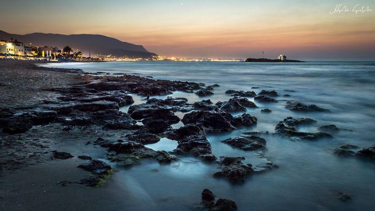 Photograph Night seascape (Malia) by Androklis Nerantzoulis on 500px