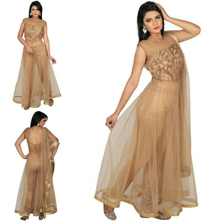 Beige Fusion concept on suit with net sequins border alongwith satin lycra pant. This awesome fusion concept outfit is available now at a fraction of its original cost. #freealterations #freehomedeliveryandpickups #tryathomebeforeorder #delhidesigner #delhigram #desidesigner #akshaywadhwa #lehenga #fusion #fusionwear #fushionfashion #gold #gorgeousoverload #lookgoodfeelgood #lookgorgeous #feelgood #OffTheRamp #myotr For more details and designs please visit offtheramp.com or call 8447158533.
