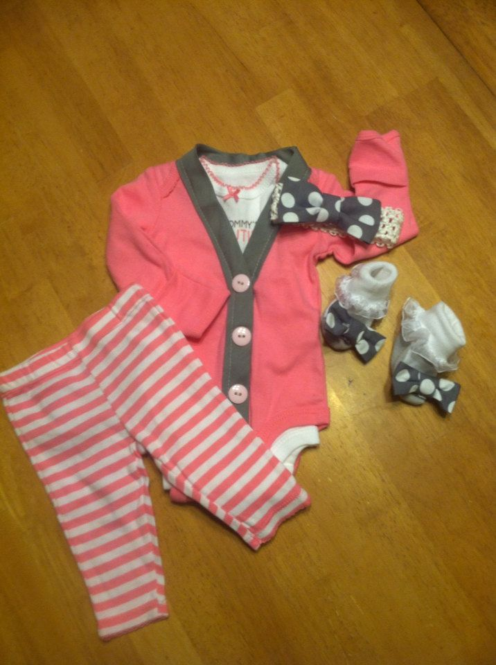 Newborn Girls Coming home outfit Newborn by EllerbysChicBoutique, $38.00