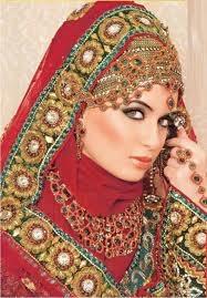 Wedding Hijab Dubai Gold