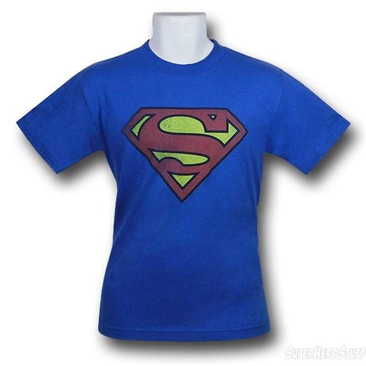 Superman Royal Blue Symbol Distressed T-Shirt -@- http://geekarmory.com/superman-royal-blue-symbol-distressed-t-shirt/