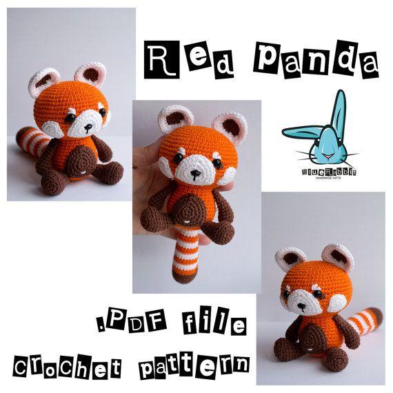 Petit panda amigurumi crochet patron. Fichier PDF. par BlueRabbitLV