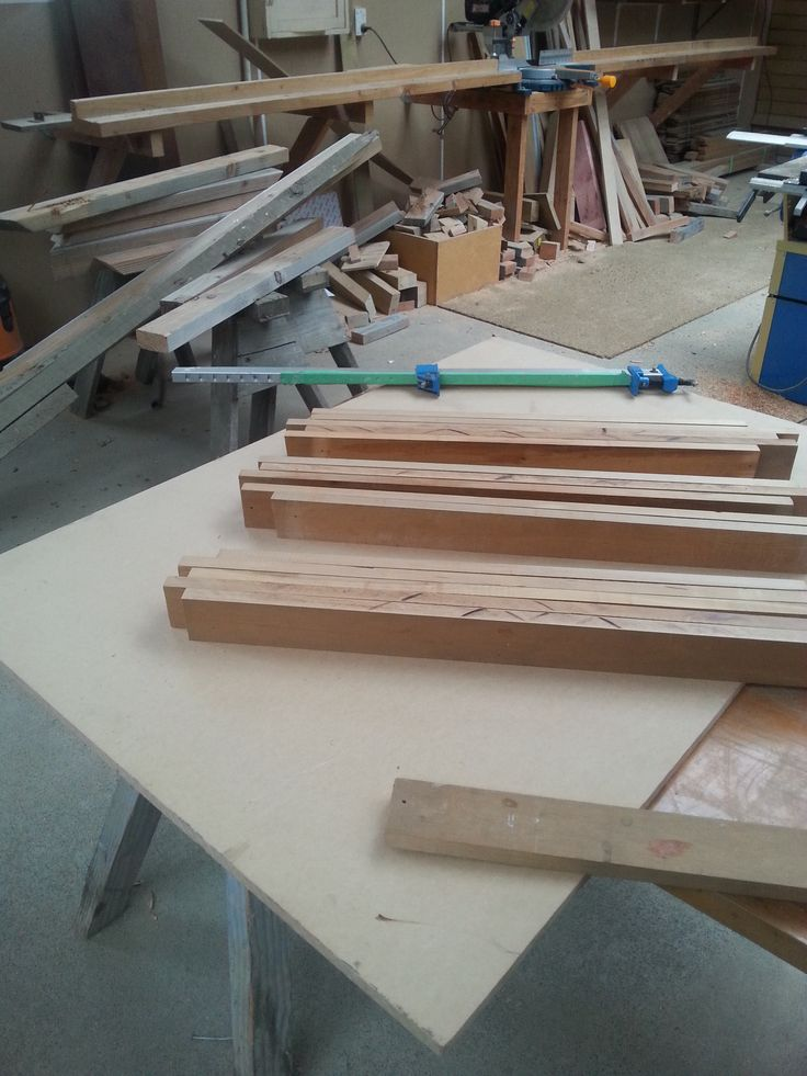 Starting to glue up our chopping board.