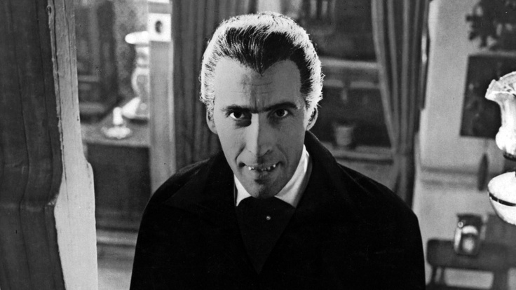 """As the Count leaned over me and his hands touched me... a horrible feeling of nausea came over me, which, do what I would, I could not conceal."" - Chapter 2, Dracula (Christopher Lee as Count Dracula)"