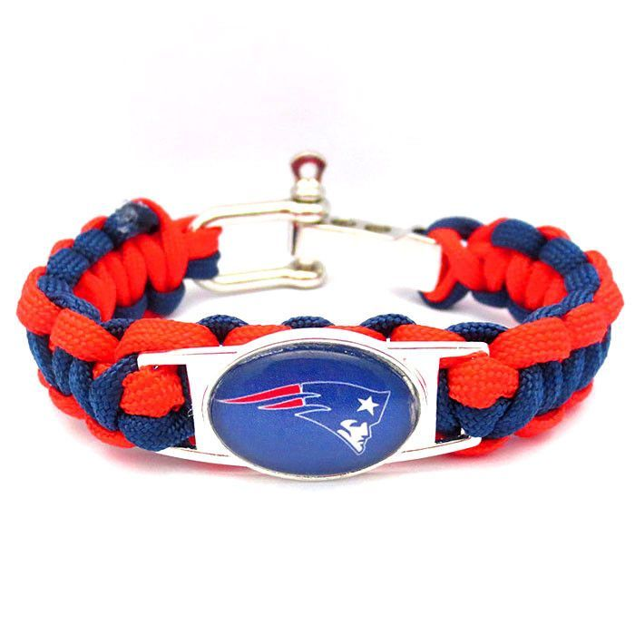 NFL New England Patriots Football Team Paracord Bracelet