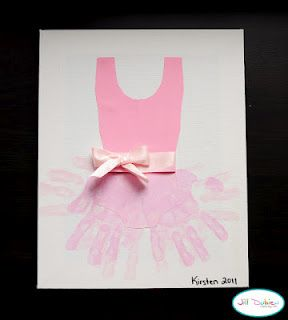 this would be a cute projrct for the girls to put in a double fram with their dance picture next to it!