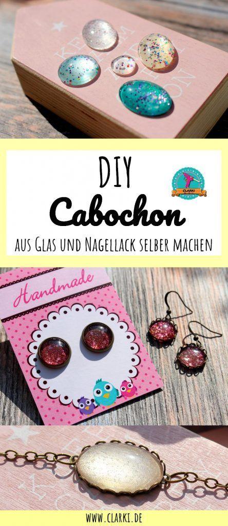 Cabochon DIY: Edelsteine aus Glas und Nagellack selber machen – Schmuck DIY