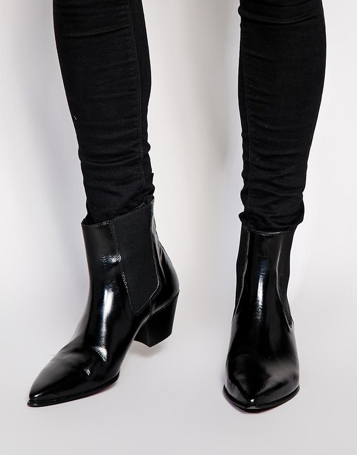 Image 1 of ASOS Boots in Leather
