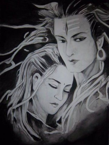 oil painting mahadev - Google Search