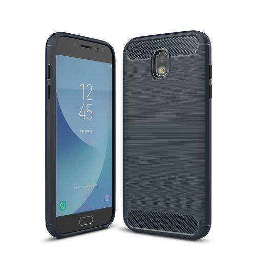 Capa para Samsung Galaxy J7 Pro Textura Fibra de Carbono Azul Escuro - Galaxy J7 Pro