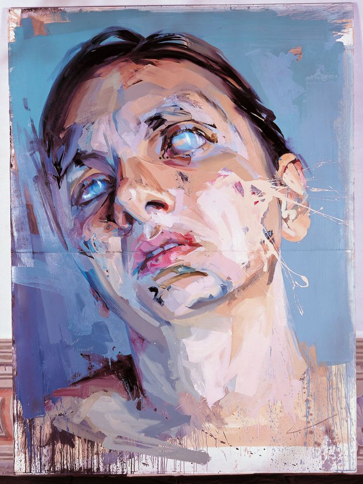"""Jenny Saville: """"Rosetta 2, 2005–06 Oil on watercolor paper, mounted on board 99 1/4 x 73 3/4 inches (252 x 187.5 cm)"""