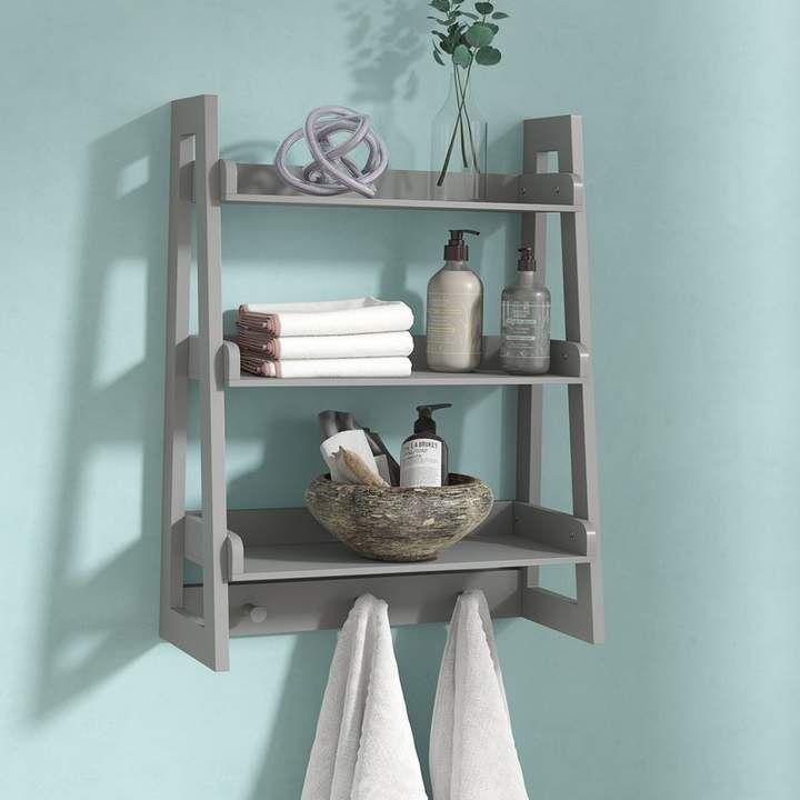 Hoschton Ladder Wall Shelf In 2020 Diy Bathroom Decor Shelves