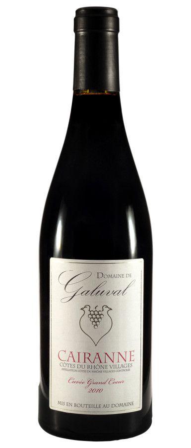 """Domaine De Galuval – Cairanne """"Cuvée Grand Coeur"""" – 2010"""