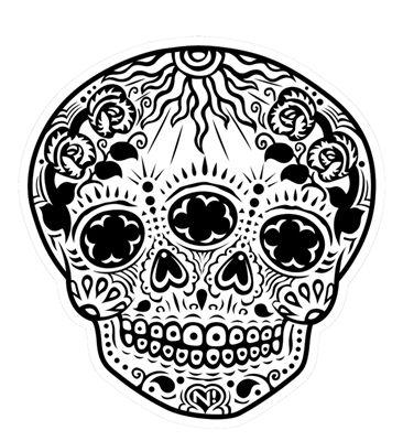 N!Satterfield Original Dia de los Muertos Vinyl skull sticker