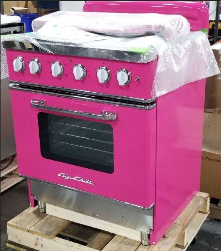 Hot Pink Retro Stove Big Chill In 2020 Hot Pink Furniture Retro Stove Pink Fridge