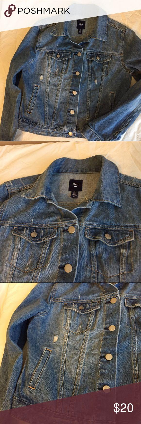 Gap factory 1969 distress denim jean jacket sz s