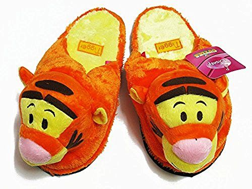 Tigger Orange Slippers One Size fits Most US Women's Size 5-9 #D