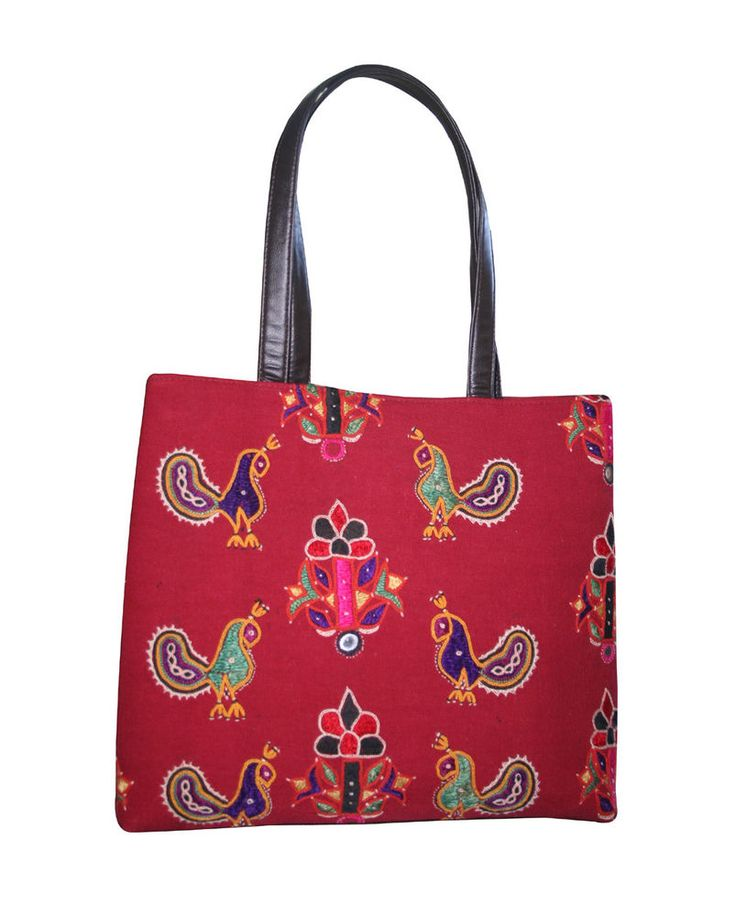 Old Vintage Peacock Banjara Bag Handmade Embroidered Cotton Bag Hobo Tote Bag  #Handmade #BeachBagEveningBagShoulderBag