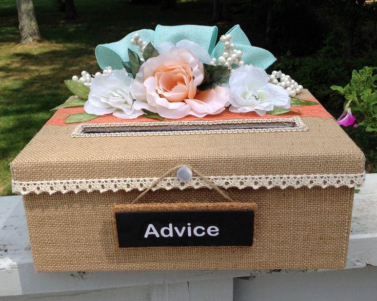 burlap gift box,burlap wedding,burlap wedding decorations,burlap wedding ideas,burlap wedding invitations,rustic wedding card box,shower by AlltheBestCardBoxes on Etsy