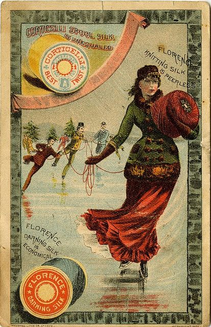 Corticelli Spool Silk ~ Victorian Trade Card