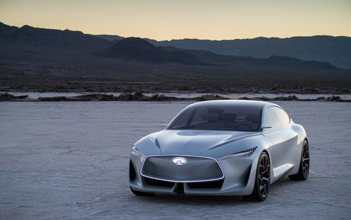 Download wallpapers Infiniti Q Inspiration Concept, 4k, 2018 cars, supercars, Infiniti