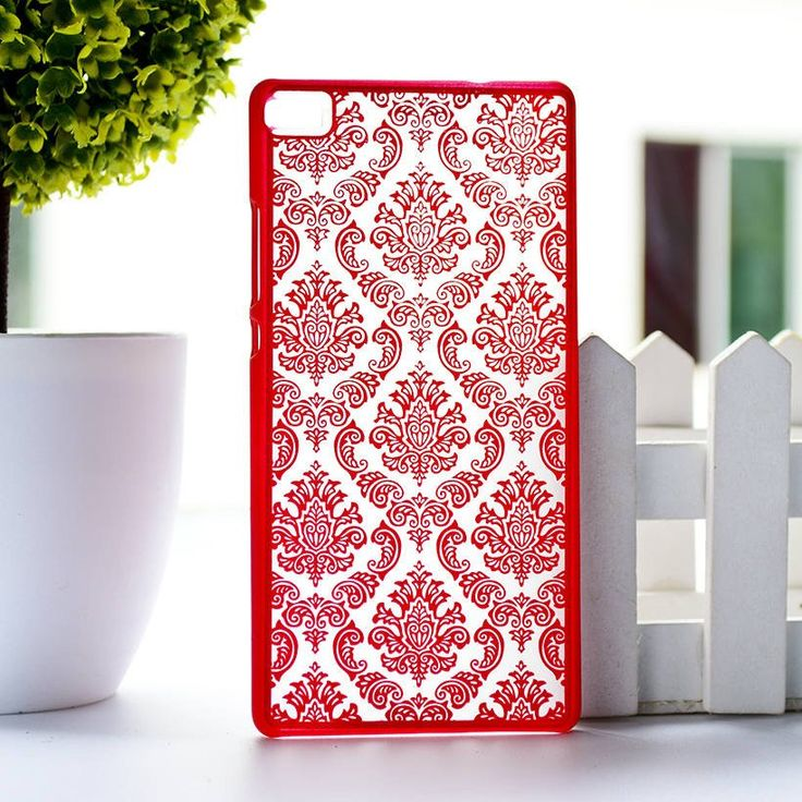 Rubberized Painted Henna Floral Retro Phone Cases For Huawei Ascend P8 Lite P8 Mini Covers Anti- Scratch Plastic Durable Shell