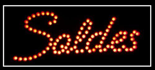Enseigne lumineuse Panneau à LED Soldes 48X24X2,5cm: Taille : 480 x 240 x 25 MM Matière: Acrylique noir, leds 8 MM Voltage : 12V 1,5 A Cet…