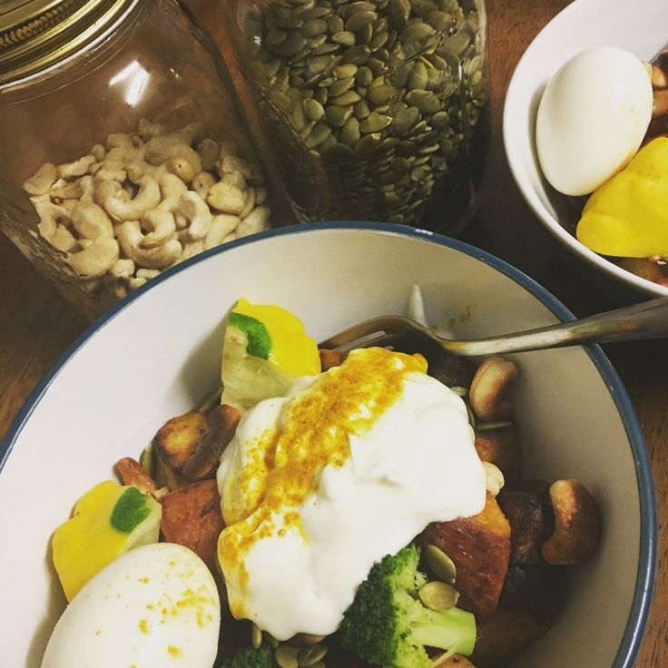 Turmeric Roasted Veges with Coconut Natural yogurt