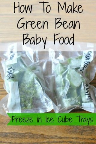 Homemade Green Bean Baby Food is quick and easy to make. Freeze in ice cube trays for one ounce portions. A quick thaw and baby can eat healthy whole food.