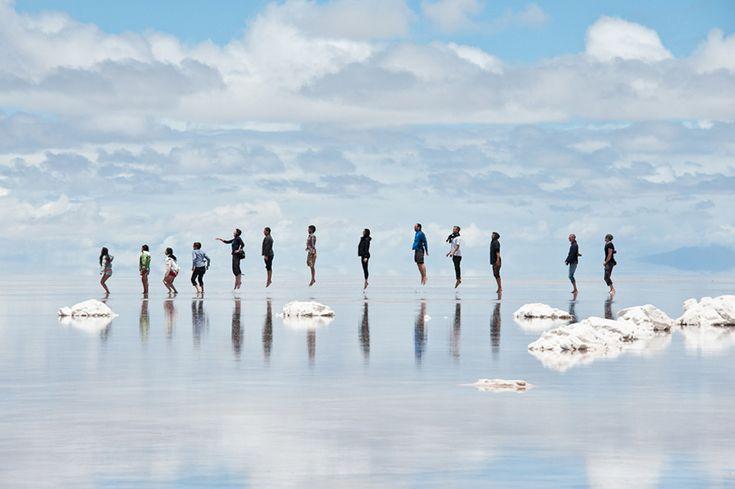 jump at bolivian salt flat photo   one big photo