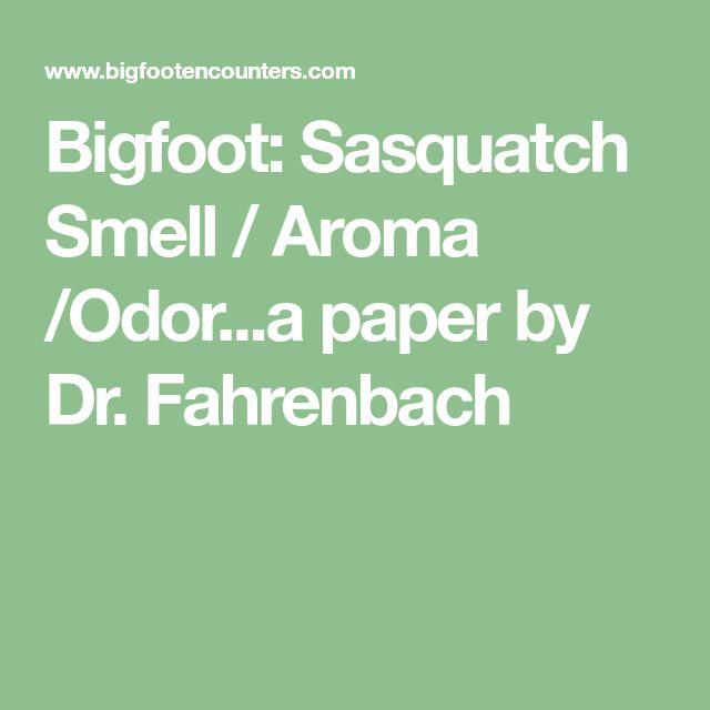 Bigfoot: Sasquatch Smell / Aroma /Odor...a paper by Dr. Fahrenbach