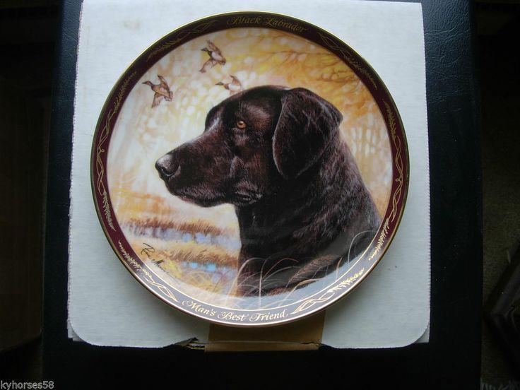 The Franklin Mint Plate  Black Labrador, Man's Best Friend