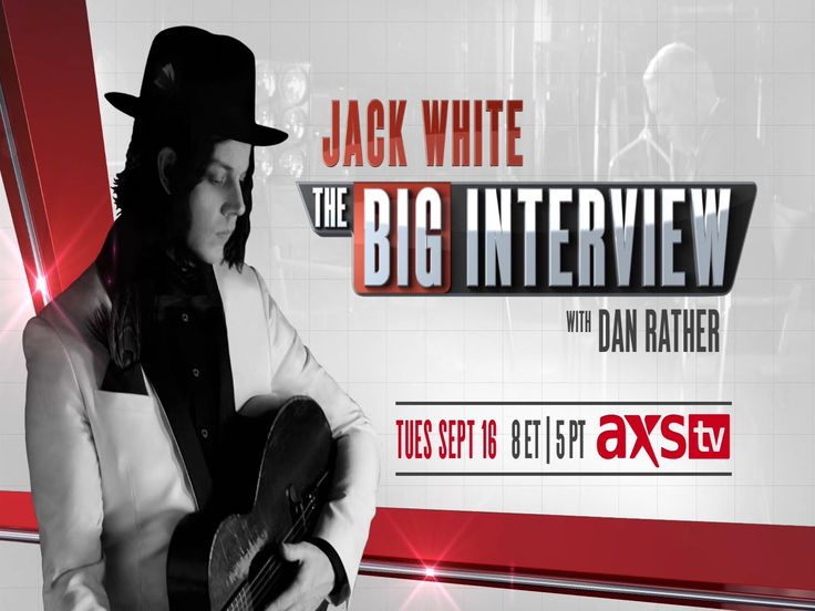 The Big Interview with Dan Rather: Jack White I love listening to his interviews almost as much as I love listening to his music <3